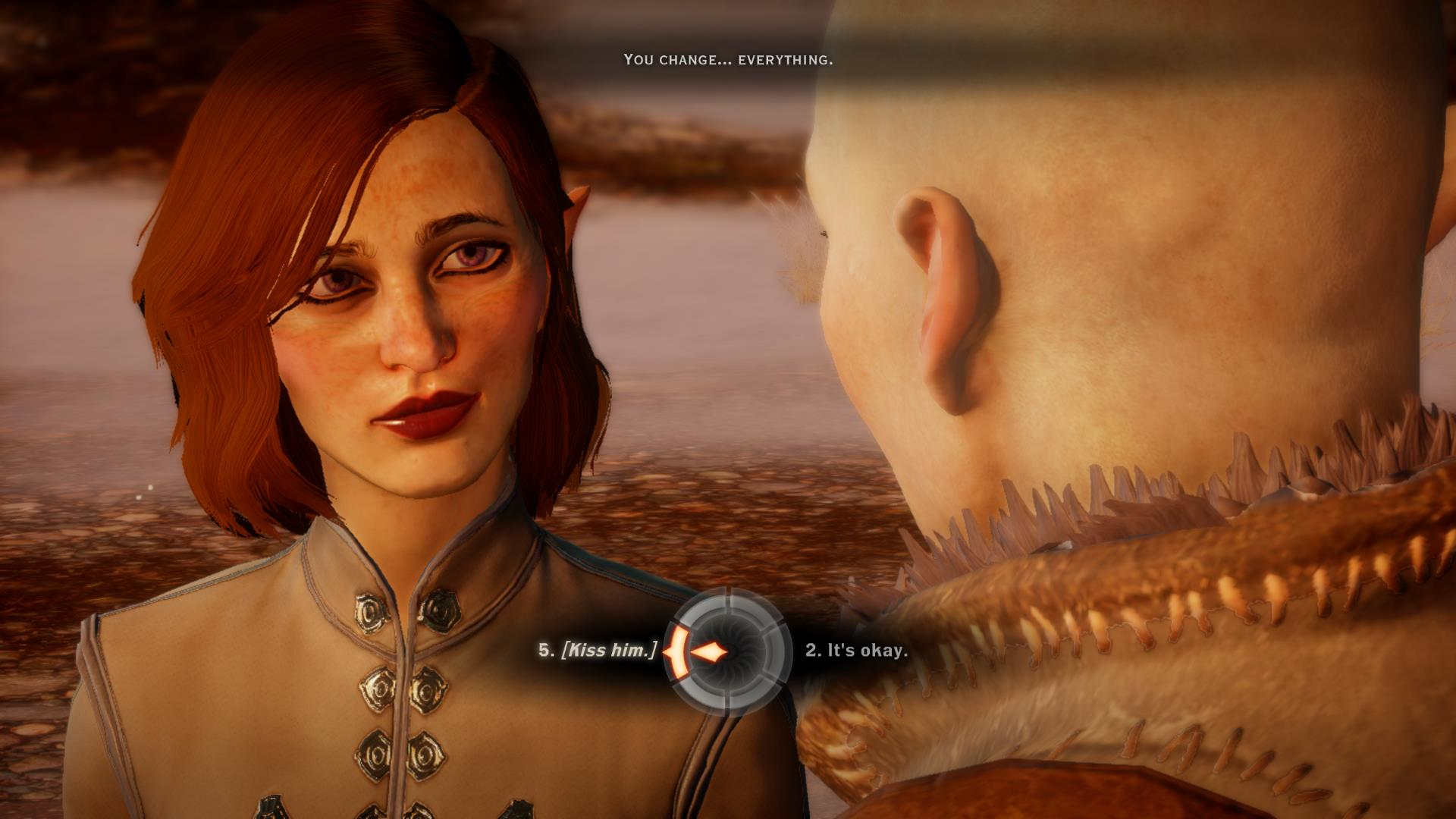 My Inquisitor, Nirwen, and Solas.